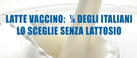 Latte vaccino: ¼ degli italiani sceglie latte senza lattosio