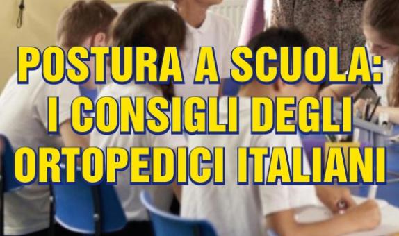 Postura a scuola: i consigli degli ortopedici italiani