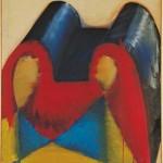 Markus Lüpertz Dithyrambisch mit rotem Streifen, 1964 - 1965Leimfarbe auf Leinwand216 x 137 cmInv. 3443Foto: J. Littkemann, Berlin