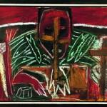 Mimmo Paladino Ohne Titel, 1987Öl auf Holz72 x 103 cmInv. 829Foto: Kathleen Mengede-Klüß, Mühlheim