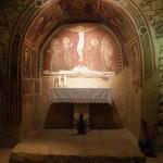 Affreschi della Cappella di San Silvestro (IX sec.) nel Santuario del Sacro Speco di San Francesco nei pressi di Narni