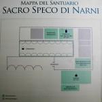 Mappa del Santuario del Sacro Speco di San Francesco nei pressi di Narni