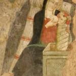 "Santuario Francescano di Greccio, Cappella del Presepio, particolare della Madonna con Bambino - ""Madonna del Latte"""