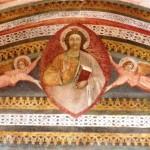 """Ritratto di Gesù in una """"mandorla"""" sorretta da due angeli - Chiesa di San Silvestro in Castello - Castelnuovo di Porto"""