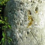 Cippo milare Salaria antica presso la Madona delle Quercie - Ponticelli