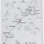 Percorso dell'antica Via Reatina da Mentana a Montelibretti ricostruito da Jean Cost