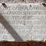 Abbazia di San Pastore - Lapide commemorativa della costruzione