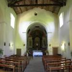Orvinio - Chiesa di Santa Maria di Vallebona - Panoramica dell'interno