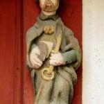 Dinan - Casa di Legno 3 - statua