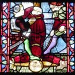 Guerrande - St Aubin - Vetrata S Pietro - Crucifissione