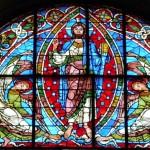 Poitiers - Saint Pierre - Vetrata della Crocefissione - annunciazione