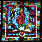 Poitiers - St Pierre - Vetrata Crocefissione - Pietro e Paolo