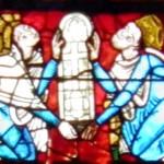 Poitiers - St Pierre - Vetrata Crocefissione - Enrico e Eleonora