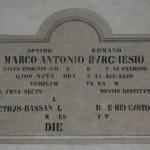 Rignano - SS Vincenzo e Anastasio - Epigrafe