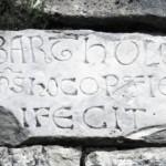 Orvinio - Abbazia S Maria del Piano - Lapide