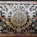 S Maria di Vallebona - Frontale Altare marmo policromo