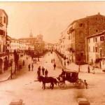 Poggio Mirteto - Piazza Martiri della Liberta con carrozza