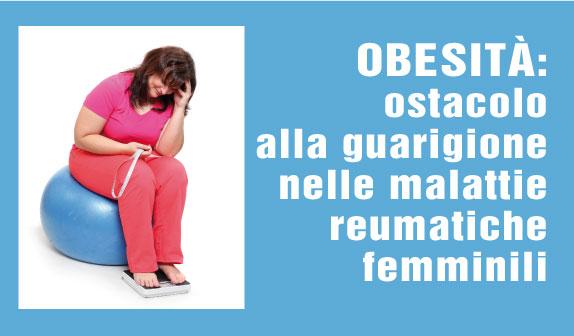 Spondiloartrite : obesità ostacolo alla guarigione nelle malattie reumatiche femminili