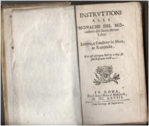 Monterotondo Monache del Monte Tabor 1668 Collezione Antonello Ferrero