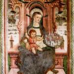 Icona Passatora - Madonna in Trono con la Città di Amatrice