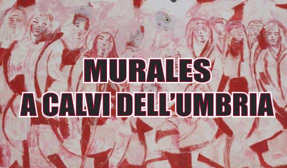 Calvi dell'Umbria: i murales presepe
