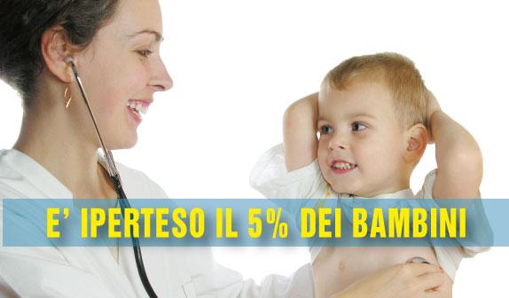 Il 5% dei bambini è iperteso