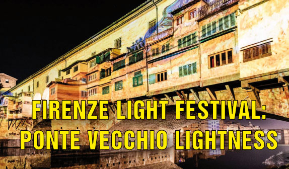 Firenze Light Festival: Ponte Vecchio Lightness