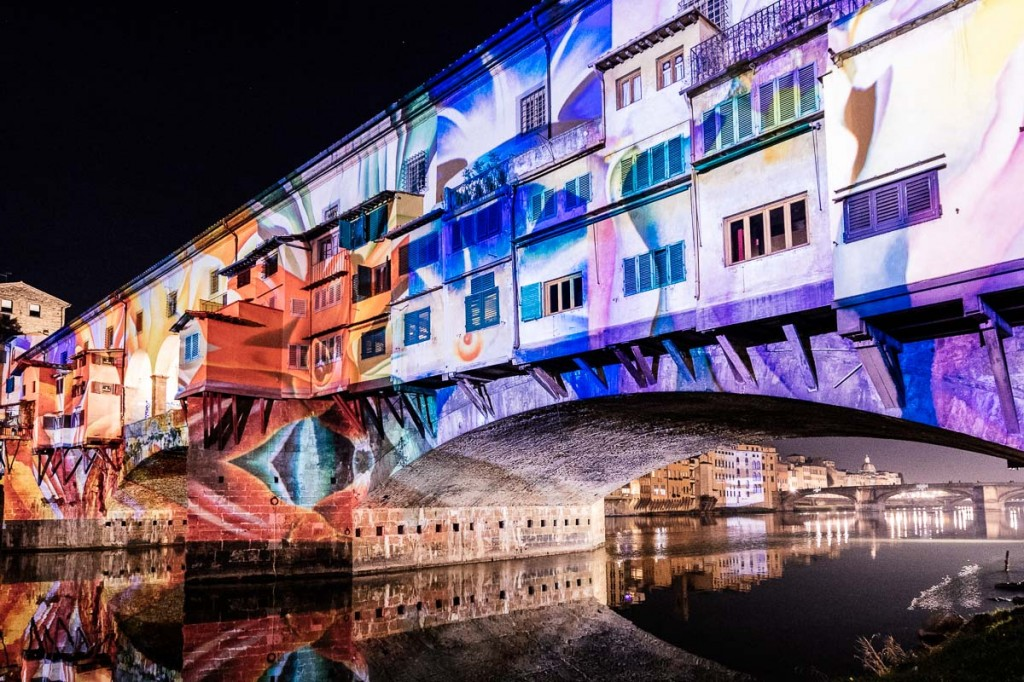 firenze light festival ponte vecchio lightness