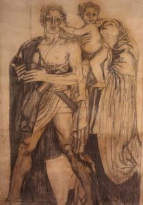 Mostra cartoni 900 italiano bologna Giulio Bargellini Ettore e Andromaca