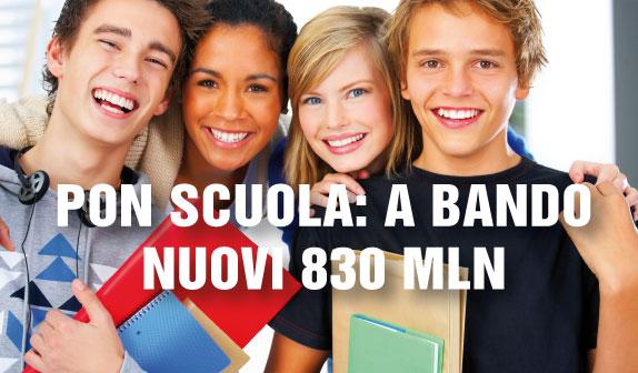 PON Scuola: a bando nuovi 830 mln