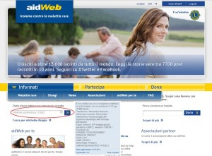 aidWeb.org malattie rare lions clubs international