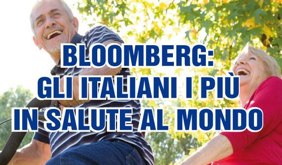 Bloomberg: gli italiani i più in salute al mondo
