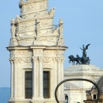 Roma - Sant Ivo alla Sapienza da Piazza Navona