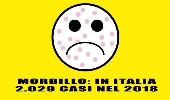 Morbillo: in Italia 2.029 casi nel 2018
