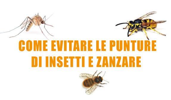 Zanzare e insetti: evitare le punture