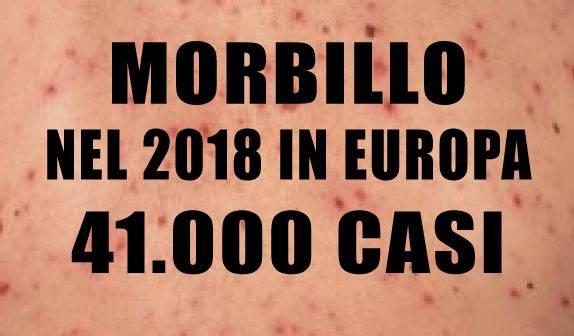 Morbillo: in Europa 41.000 casi nel 2018