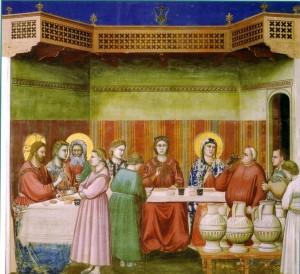 bibbia a tavola alimentazione secondo la bibbia Giotto Nozze di Cana