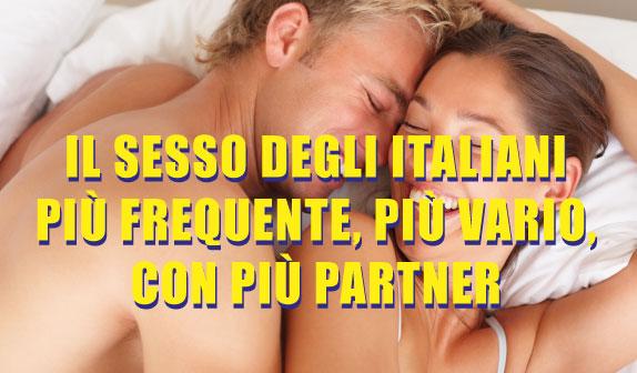 Il sesso degli italiani: più frequente, più vario, con più partner